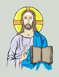 Christ with Bible Royalty Free Stock Images