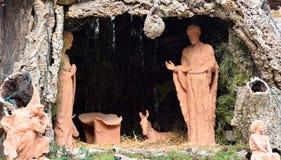 christ bożych narodzeń ściąga Jesus Josef Mary narodzenia jezusa scena Fotografia Royalty Free