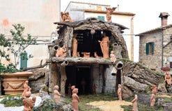christ bożych narodzeń ściąga Jesus Josef Mary narodzenia jezusa scena Obraz Royalty Free
