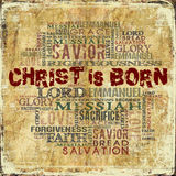 Christ is born Royalty Free Stock Image