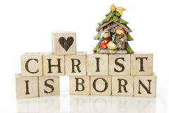 Christ Is Born royalty free stock photography