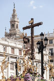 Christ of the brotherhood of the Sun, Easter in Seville Stock Photos