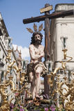 Christ of the brotherhood of the Sun, Easter in Seville. Brotherhood of the sun in the Holy Week in Seville royalty free stock photos