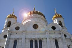 Christ a catedral do salvador em Moscovo, R?ssia foto de stock royalty free