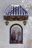 Christ chapel in ancient wall Stock Images