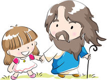 Christ and children Stock Photo