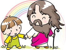Christ and children Royalty Free Stock Photo