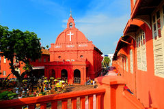 Christ Church. Is an 18th century Protestant church in the city of Malacca, Malaysia Stock Images