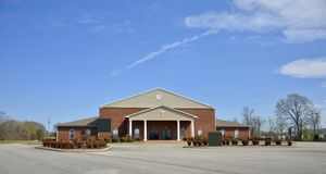 Christ Church of Brownsville, Tennessee Building. Christ Church Building, Brownsville is a city in Haywood County, Tennessee, United States. It is the county Royalty Free Stock Photo