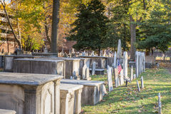 Christ Church Burial Ground. Philadelphia, Pennsylvania, USA - November 11, 2016: View of cemetery at historic Christ Church Burial ground in Philadelphia Royalty Free Stock Photography