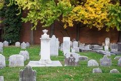 Christ Church Burial Ground. Philadelphia, Pennsylvania, USA - November 11, 2016: View of cemetery at historic Christ Church Burial ground in Philadelphia Stock Photos