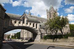 Christ Church Cathedral and bridge to former Synod Hall. In Dublin Stock Image