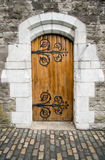 Christ Church Cathedral door, Dublin, Ireland Royalty Free Stock Image