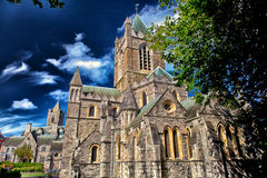 Christ Church Cathedral Dublin. Looking at the beautiful historic Christ Church Cathedral in Dublin Royalty Free Stock Photography