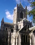 Christ Church Cathedral in Dublin, Ireland. Picture of Christ Church Cathedral in Dublin, Ireland Stock Images