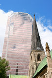 Christ Church Cathedral and KPMG Tower in Montreal Stock Photography