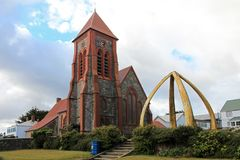 Christ Church Cathedral in Port Stanley, Falkland Islands Royalty Free Stock Images