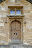 Christ church college door Royalty Free Stock Image