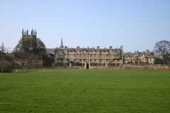 Christ Church College Oxford University Meadow Building Stock Image
