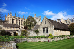 Christ Church College Oxford University. In Oxfordshire was founded in 1521 by Thomas Cardinal Wolsey as Cardinal College and after his fall from grace Henry Royalty Free Stock Image