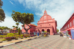 Christ Church & Dutch Square in Malacca, Malaysia Stock Image