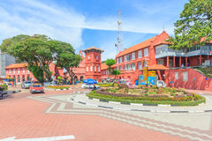 Christ Church & Dutch Square in Malacca, Malaysia. Royalty Free Stock Photos