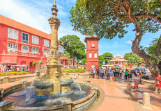 Christ Church & Dutch Square in Malacca, Malaysia. Stock Images