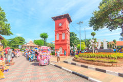 Christ Church & Dutch Square in Malacca, Malaysia. Royalty Free Stock Image