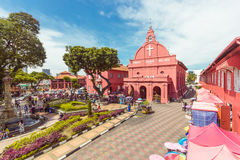 Christ Church & Dutch Square in Malacca, Malaysia. Stock Photography