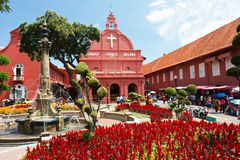 Christ Church Fountain. Fountain at the Christ Church Place or the Dutch Square Place at Malacca, Malaka Stock Photos