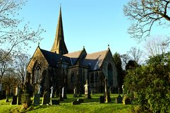 Christ Church Friezland in Oldham stock image
