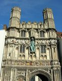 Christ church gate. Entrance to canterbury cathedral Royalty Free Stock Photos