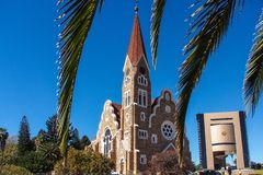 The Christ Church, Lutheran church in Windhoek, Namibia. Africa stock photos