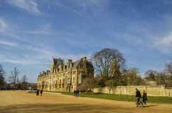 Christ Church Meadow Oxford. A beautiful day in the park in front of the Church in Oxford Stock Photos