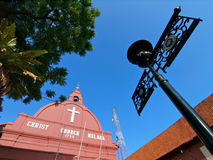 Christ Church Melaka Royalty Free Stock Photos