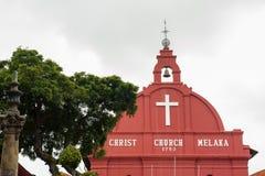 Christ Church in Melaka. (Malacca), Malaysia stock photo