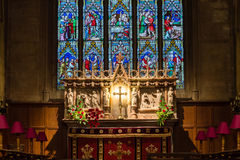 Christ Church With Saint Mary Altar. ENGLAND, SWINDON - 08 NOV 2015: Christ Church With Saint Mary Altar royalty free stock photography