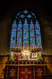 Christ Church With Saint Mary Altar low angle. ENGLAND, SWINDON - 08 NOV 2015: Christ Church With Saint Mary Altar low angle stock photos