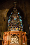 Christ Church With Saint Mary Font. ENGLAND, SWINDON - 08 NOV 2015: Christ Church With Saint Mary Font Stock Image