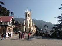 Christ Church Shimla - Near The Ridge. This Church build by British Royalty Free Stock Photography