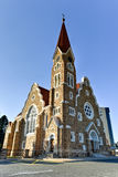 Christ Church - Windhoek, Namibia. Christuskirche (Christ Church), famous Lutheran church landmark in Windhoek, Namibia stock photos