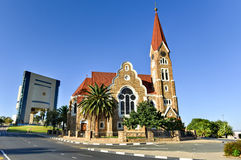 Christ Church - Windhoek, Namibia. Christuskirche (Christ Church), famous Lutheran church landmark in Windhoek, Namibia royalty free stock photos
