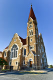 Christ Church - Windhoek, Namibia. Christuskirche (Christ Church), famous Lutheran church landmark in Windhoek, Namibia stock image