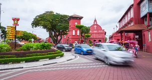 Christ Church at the windmill red square in the heart of Malacca, Malaysia