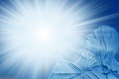 Christ con indicatore luminoso divino Fotografia Stock Libera da Diritti