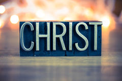 Christ Concept Metal Letterpress Type Royalty Free Stock Images