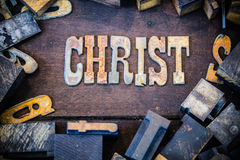 Christ Concept Rusty Type Stock Photography