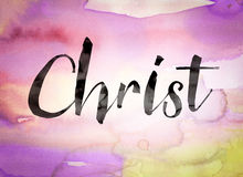 Christ Concept Watercolor Theme Royalty Free Stock Images