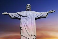 christ corcovado de berg redeemer rio Arkivbild