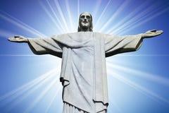 christ corcovado de berg redeemer rio Royaltyfri Foto